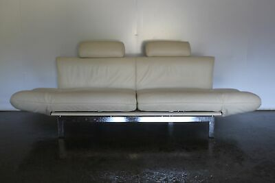 "Sensational Rare De Sede ""DS-140"" 3-Seat Sofa Chaise in Cream Leather"