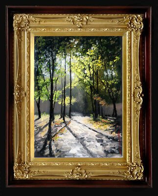 """Oil Painting PRINTED on Canvas Arseni ~ LOVELY MORNING 11"""" X 8"""" Impressionism"""