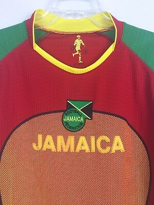cheaper 16bef 1ad90 JAMAICA NATIONAL FOOTBALL Soccer Team Adult 2XL Stitched Dry ...