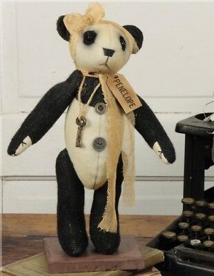 NEW!!! Primitive Country Vintage HONEY & ME Standing PENELOPE Panda Bear