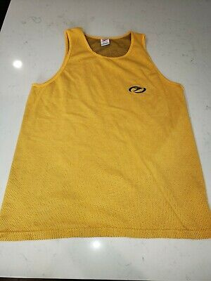 ceebda98cae11a Vintage 90s Speedo Yellow Tank Top Mens Size XL Made In USA embroidered logo !