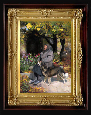 """Oil Painting PRINTED on Canvas Arseni ~ SOLDIER'S MOTHER 10,9"""" X 8"""" Art Artist"""