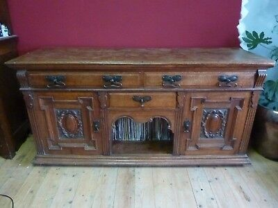 Arts and Crafts style Oak sideboard manufactured by Allen & Appleyard Artistic F