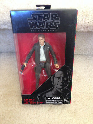 Star Wars: The Force Awakens Black Series 6-Inch Han Solo #18 NON-MINT Pkg