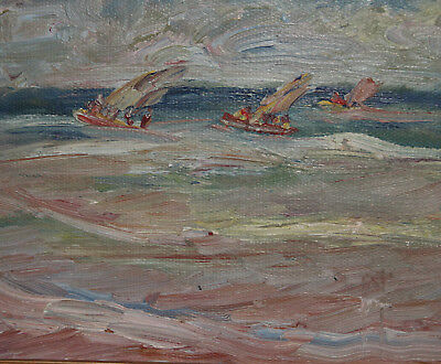 Expressionist Oil Painting Seascape