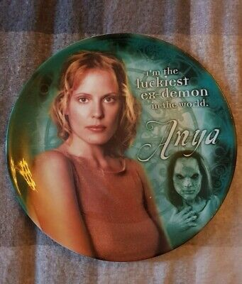 Buffy The Vampire Slayer Plate Anya Demon Collectable Rare tv cult