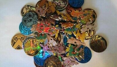 Official Pokemon 3 Pins and 3 Coins random lot