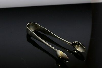 Antique Silver Plated Sugar Tongs Hallmarked