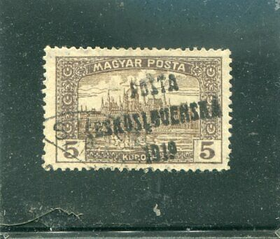 Hungaria old used stamp o/p 1919 VF