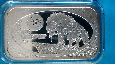 THE WEREWOLF, CMG- 24, 1 OZ Fine .999 Silver Bar COMPLETELY SOLD OUT!