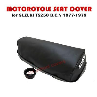 Suzuki Ts250 Ts 250 B C N 1977-1979 Seat Cover With Strap & Logo