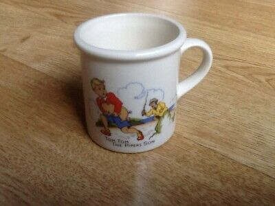 Children's Dishes Vintage Nursery Mug Tiny Tom Tom The Pipers Son