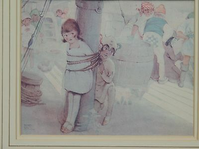 Vintage Mabel Lucy Attwell Peter Pan Art Deco Framed Print