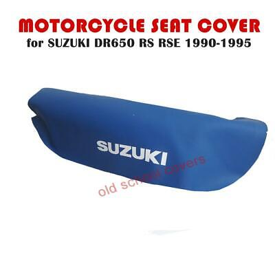 SUZUKI DR650RS DR650RSE 1990-1995 BLUE SEAT COVER with WHITE LOGOS DR650