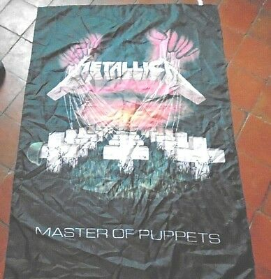VINTAGE 1990's METALLICA 'MASTER OF THE PUPPETS' TOUR scarf flag wall hanging