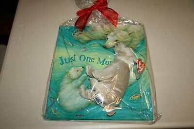 """""""Just One More Swim"""" Book, """"Almond"""" Beanie, Cards, etc. GIFT BAG NEW in bag."""