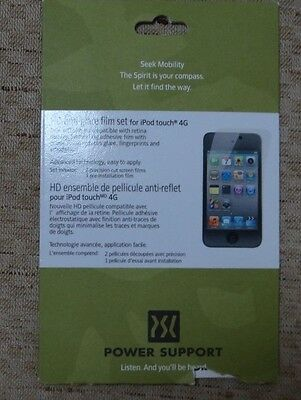 POWER SUPPORT HD ANTI-GLARE FILM SET FOR iPOD TOUCH 4G