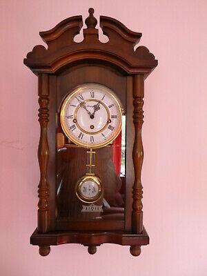 Key Wind Triple Chime Wall Mantel Clock Whittington Westminster St.Michael