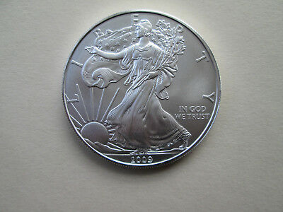 2009 American Silver Eagle BU 1 oz. Coin US $1 Dollar Uncirculated Brilliant