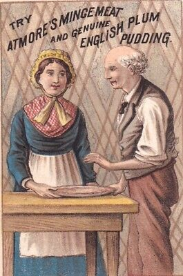 Antique Atmore's English Plum Pudding Victorian Trade Card