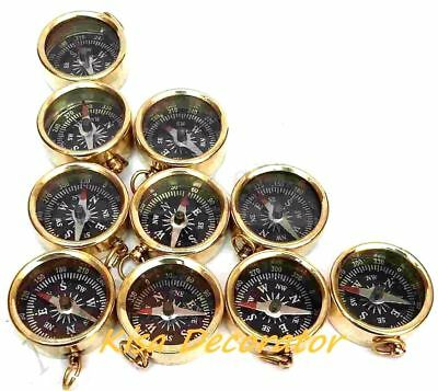 "Lot Of 100 Pc 1"" Brass Pocket Compass Maritime Nautical Vintage Style Pendant"