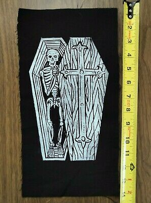 Burning Witch punk goth occult black metal patch by Mike Vivisector