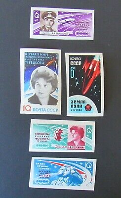 Russia 1963 Space Stamp Lot Imperf MNH