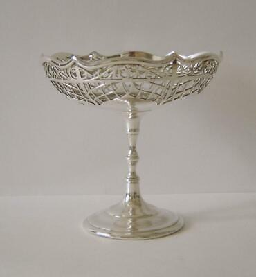 An Antique Sterling Silver Table Comport Birmingham 1914 132 Grams