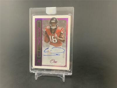 2018 Panini One Football Calvin Ridley #85 Rookie Red Parallel Auto 05/15