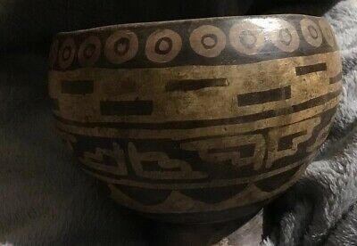 Pre Colombian Poly Chrome Footed Bowl