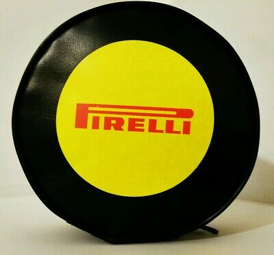 Pirelli Promo Round Black Wall Tyre Shaped Zip Bag With Logo - Free Shipping