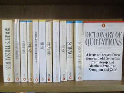 "Set of 12 ""A Penguin Dictionary of"" And Roget's Thesaurus Various"