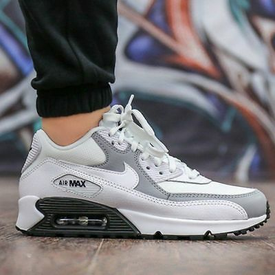 029c2b96e7 325213-126 NIKE WHITE Wolf Grey Men Wmns Air Max 90 - $69.60 | PicClick