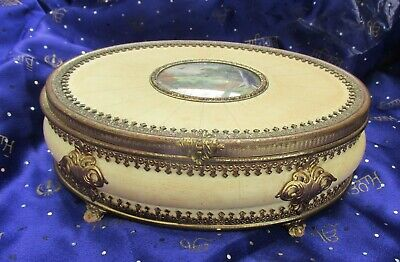 Stunning Rococo Jewellery Box.  Lady Lawson. With Miniature Painting