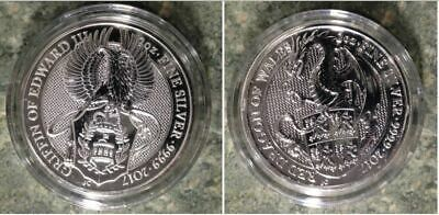 2 Coin Set Queen's Beasts 2 oz Silver Griffin-Dragon Capsule-Prices Rising
