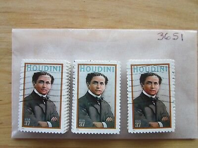 # 3651 x 100 Used US Stamps Lot  Harry Houdini Issue  See our other lots