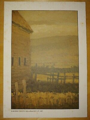 Original Russell Chatham Paradise Valley 87 Invitation Owings Dewey Fine Art