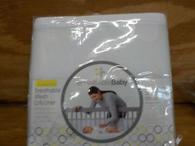 BreathableBaby   Deluxe Breathable Mesh Crib Liner  White