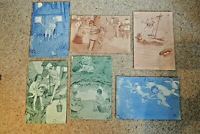 Vintage Original Book Pages Prints from Peter Pan by Mabel Lucie Attwell x6