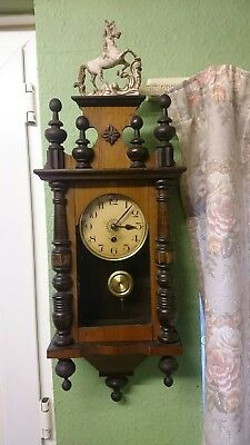 Small Size Antique Vienna Wall Clock  Non Striking