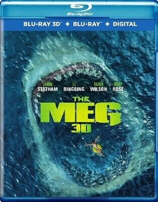 Meg 3D 10/18 3D (used) Blu-ray Only Disc Please Read