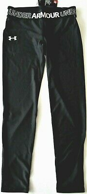 Under Armour Girls' Capri Spandex Leggings Pants Youth Black S, M, L & XL - NWT