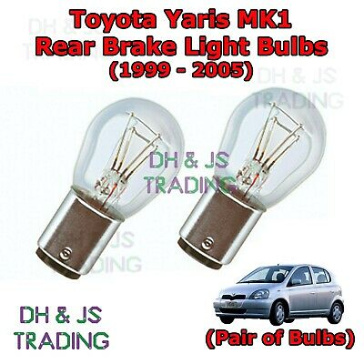 2 Stop//Tail Bulbs fit Toyota Yaris Verso 21//5w Capless Brake//Tailight//Wedge