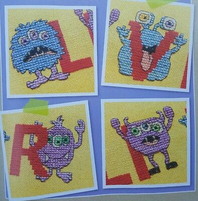 'colourful Monster Abc & Numbers' Cross Stitch Chart By Jenny Barton (55)