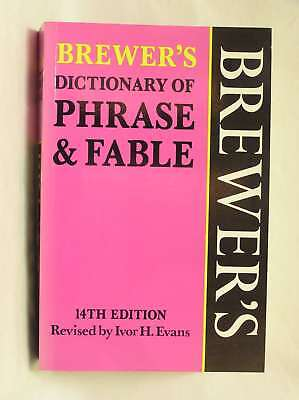 Brewer's Dictionary of Phrase and Fable, , Excellent Book