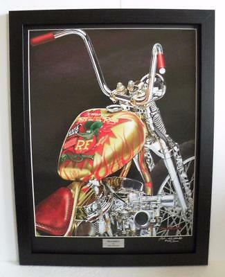 Indian Larry Rat Fink Motorcycle Art Print Framed Signed Ltd Edition by John G