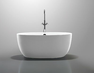 "Bathroom Acrylic Free Standing Bath Tub ""Thin Edge"" 1300x700x580 No Overflow"