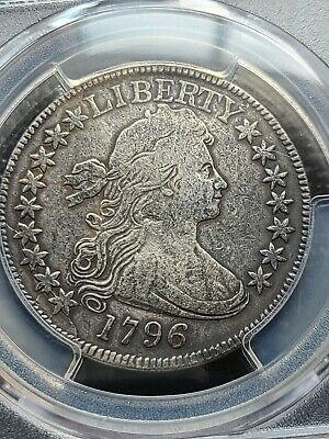 1796 Draped Bust Half Dollar, 15 Stars, Ngc Fine Details, Repaired, Fine Details