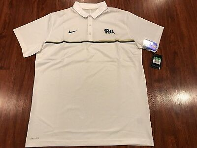 new style 0803c b04cc Nike Men s Pitt Pittsburgh Panthers Coaches Elite Polo Jersey Shirt XL