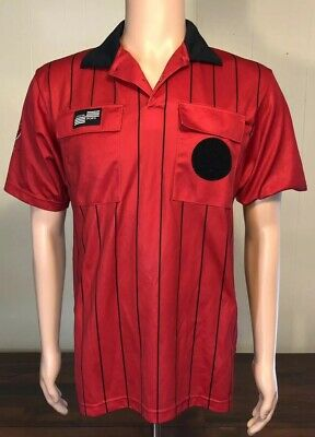 64c415431fa US Soccer Federation Referee Official Sports Jersey Shirt Large Red Black  Small